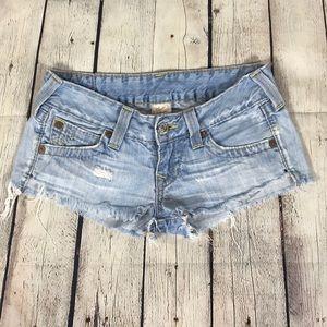True Religion Sz 26 Cutoff Distressed Shorts